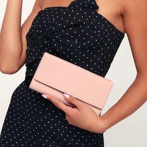 Lulu's Dorchester Blush Pink Clutch